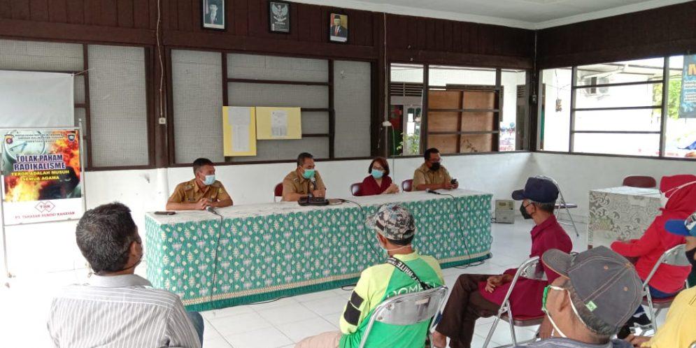 Rapat Koordinasi  Tim Posko Covid 19 Kecamatan dan Kelurahan Pahandut