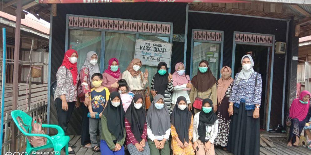 Kunjungan TP PKK Kecamatan Pahandut ke Jalan Riau Kelurahan Pahandut